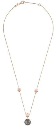 Tateossian 14kt rose gold round Kensington single stone necklace