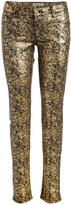 Couture Miss Kitty Women's Denim Pants and Jeans GOLD - Gold Metallic Skinny Jeans - Juniors