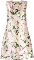 Dolce & Gabbana Lily Print Satin Dress