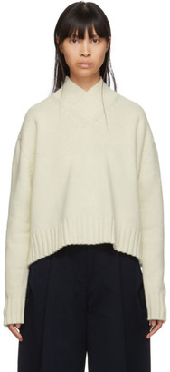 Studio Nicholson Off-White Kelvin V-Neck Sweater