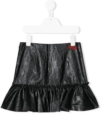 Philosophy Di Lorenzo Serafini Kids Cracked Faux Leather Skirt