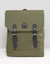 French Connection Military Canvas Backpack