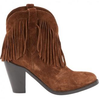 Saint Laurent Brown Suede Boots