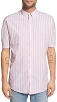 Zanerobe Stripe Rugger Oversized Short Sleeve Woven Shirt