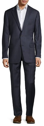 Hickey Freeman Milburn IIM Series T Regular-Fit Check Wool Suit