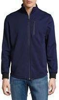Kenneth Cole New York Bonded Zip Mock Neck Jacket