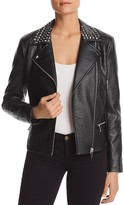 MICHAEL Michael Kors Studded Faux-Leather Moto Jacket