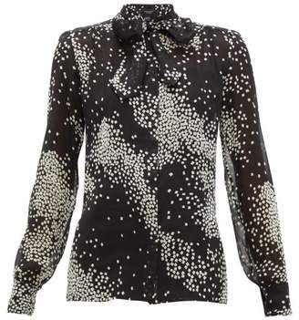 Giambattista Valli Abstract Square-print Silk Blouse - Womens - Black White