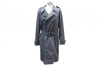 Saint Laurent Grey Wool Trench Coat for Women