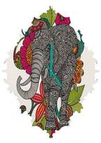 Deny Designs Ruby the Elephant Baroque Wall Clock