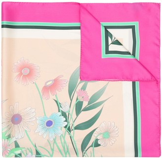 Sandro Paris Wild Flower Silk Scarf
