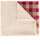 Paul Smith gingham frayed scarf