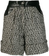 Fabric Mix Tweed Shorts
