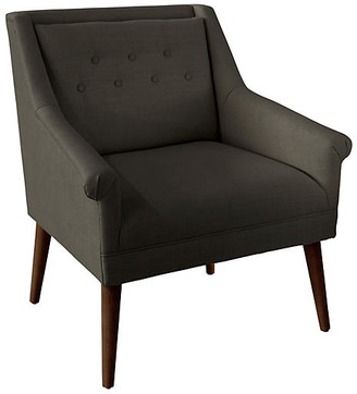 One Kings Lane Bella Tufted Accent Chair - Charcoal