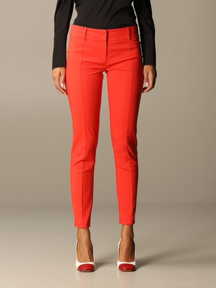 Patrizia Pepe Slim Fit Trousers In Cotton Blend