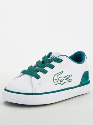 Lacoste Infant Boys Lerond 120 Lace Up Trainer -White/Green