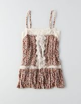 American Eagle AEO Lace Trim Pintucked Cami