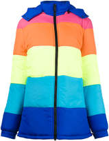 Mira Mikati In The Middle of Nowhere stripe puffer coat