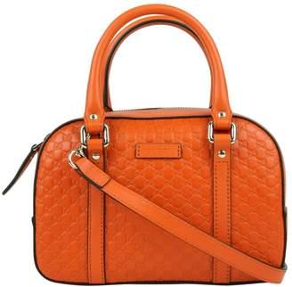 Gucci Boston Orange Leather Handbags