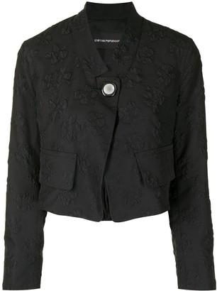 Emporio Armani Cropped Floral Blazer Jacket