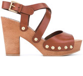 L'Autre Chose clogs with crossover straps - women - Calf Leather/Leather/rubber - 39