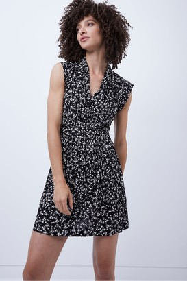 French Connection Bruna Jersey Printed Wrap Dress
