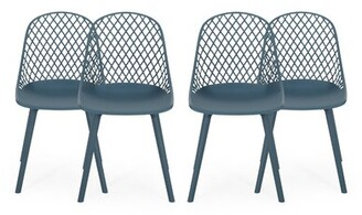 Wrought Studio Kenyon Outdoor Patio Dining Chair Frame Color: Green