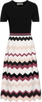 Diane von Furstenberg Gaia Flared Stretch And Intarsia-knit Dress