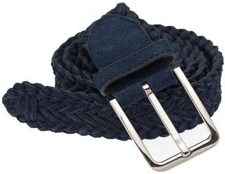Tie Bar Suede Braided Navy Belt