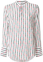 Equipment striped long-sleeve blouse