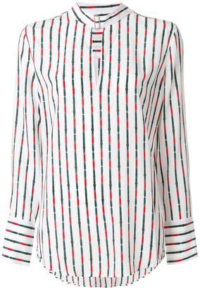 Equipment striped long-sleeve blouse