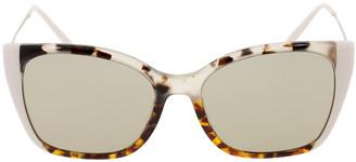 Prada Havana and Ivory Cat Eye Sunglasses