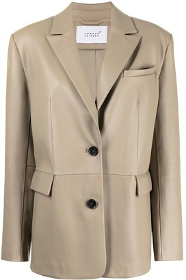Common Leisure Single-Breasted Fitted Blazer