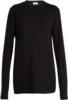 Raey Long sleeved cotton-jersey T-shirt