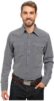 Stetson Oval Neat Long Sleeve Woven Snap Shirt
