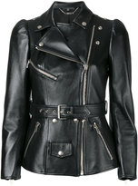Alexander McQueen tailored biker jacket - women - Silk/Calf Leather - 40