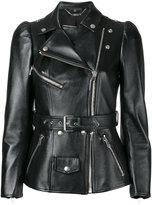 Alexander McQueen tailored biker jacket - women - Silk/Calf Leather - 42
