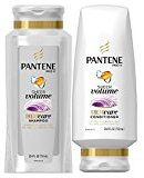 Pantene Sheer Volume Shampoo and Conditioner Set, 25.4 Fl Oz (Pack of 2)