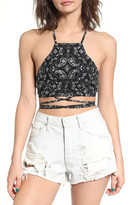 LIRA Ravi Wrap Crop Top