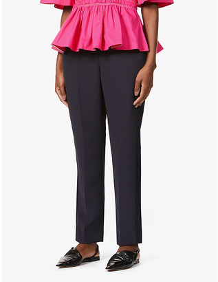 Roksanda Colwyn tapered high-rise twill trousers