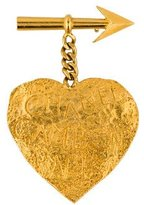 Chanel Cambon Paris Heart Brooch