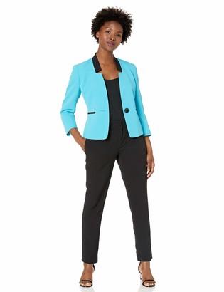 Le Suit LeSuit Women's Petite Stretch Crepe 1 Button Pant Suit