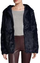 Adrienne Landau Plush Hooded Jacket