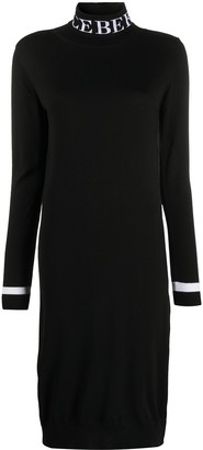 Iceberg Logo Intarsia Virgin Wool Dress