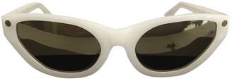 Alexander Wang White Plastic Sunglasses