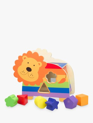 Orange Tree Lion Wooden Shape Sorter, Multi
