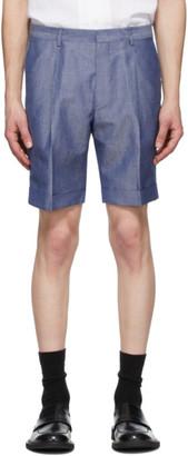 Ermenegildo Zegna Blue Linen Summer Shorts