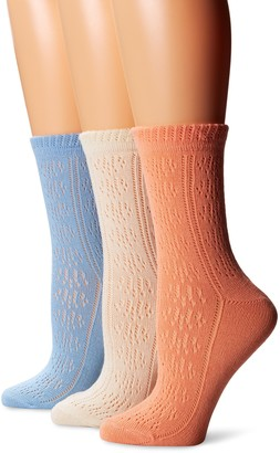 Muk Luks Women's Pointelle Crew Socks