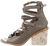 Tibi Lace-Up Leather Sandals