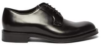 Prada Leather Derby Shoes - Mens - Black